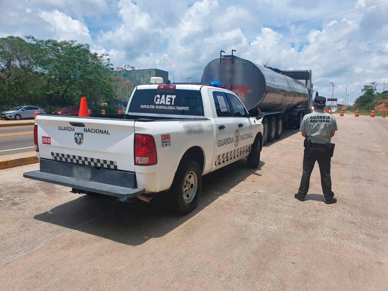 GN asegura 32 mil litros de combustible alterno